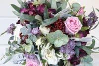 Athena burgundy pink bridal bouquet